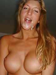 Pictures of amateur jizzed chicks
