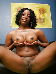 We find Koko Kream all oiled up and ready for sex.  When this all-natural ebony babe has got her breasts all shiny, you know she