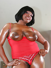 Krystal Brown can smother a guy with her curves and big love.  She