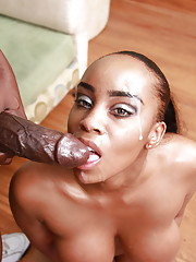 Sexy Sandy Jackmon gets her round and brown ass penetrated by black dong