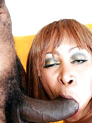 Thick chunky black milf with a big ass gets fucked hard by a raging black meat monster
