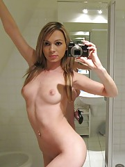 Completely nude and self shot in the mirror
