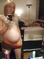 Horny pregnant girlfriends having hard sex