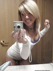 Hot self-shots from random amateur blonde cuties
