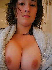 Photos of random amateur babes exposing their huge breasts