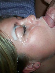 Photo collection of horny amateur honeys who love their jizz facials