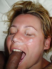 Picture collection of jizz-drinking amateur sluts