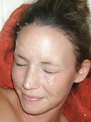 Photos of hotties who love cum facial