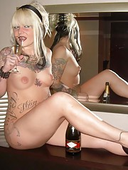 Picture collection of a hardcore tattooed emo honey