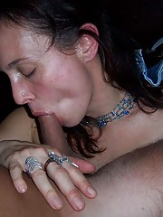 Picture collection of a horny amateur babe enjoying a stiff dick in her mouth