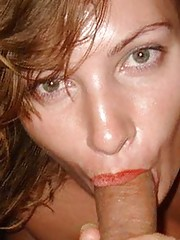 Pictures of GFs licking and sucking hard dicks