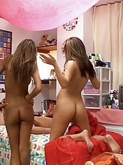 Check out these amazing hot college babes finger fuck and eat each other out in these hot dorm room sex parties