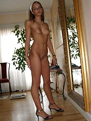Picture selection of an amateur kinky housewife