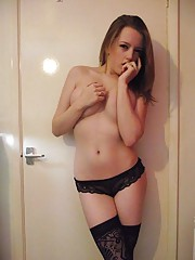 Picture selection of two amateur kinky busty girlfriends