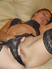 Picture collection of amateur horny babes playing with their hot pussy