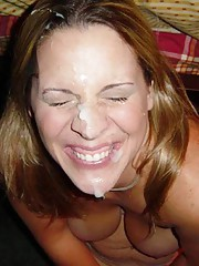 Picture collection of naughty facialed sleazy amateur chicks
