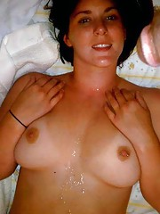Photo selection of amateur chicks who enjoy hot messy cum