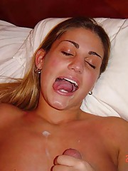 Photos of cum-drenched amateur sluts
