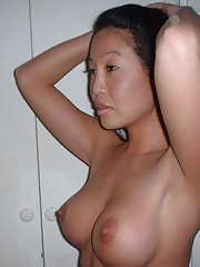 Picture collection of amateur Oriental babes showing their breasts