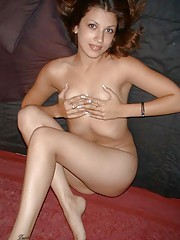 Picture collection of a steamy hot amateur naked Latina babe