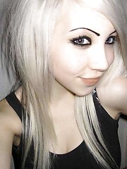 Photo compilation of an amateur blondie emo babe