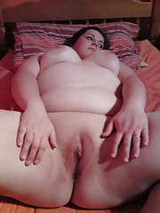 Picture collection of a fat GF displaying her big tits