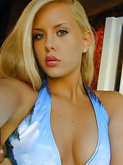 Photo collection of a hot amateur blonde chick