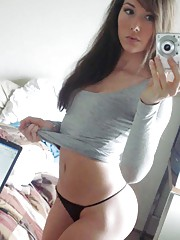 Photo selection of a hot amateur sexy babe camwhoring