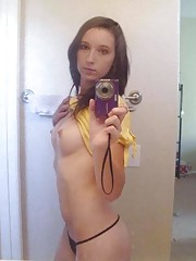 Photo gallery of an amateur sexy babe selfshooting