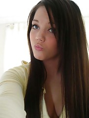 Picture collection of an amateur kinky hottie sucking on a boner