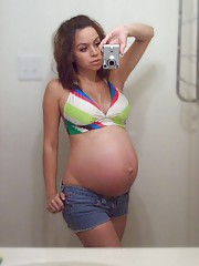 Assorted pregnant girlfriends Having Sex