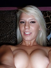 Picture selection of an amateur sexy blondie camwhoring
