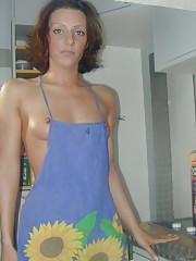 My naked wife in an apron