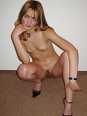 Photo collection of a petite babe displaying her pussy