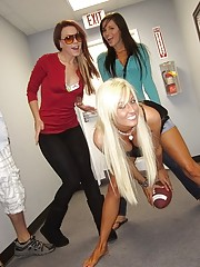 Hot fucking teens play topless tag football in these amateur college dorm room sex party  pics