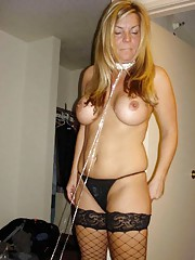 Photo gallery of an amateur skanky horny wife getting wild with hubby