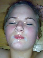 Skanky hot bitch loves getting cum-drenched