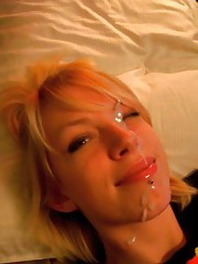 Naughty amateur horny punk girlfriend gets facialed