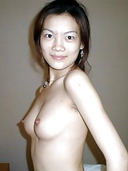 Picture selection of a sexy Asian babe taking a shower