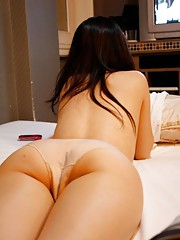 Gallery of a kinky POV Asian ass show at a motel