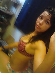 Compilation of a Latina chick camwhoring at home