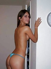 Picture collection of an amateur sexy hot-assed Latina babe
