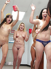 Sexy zoey and her horny college friends throw a naked party big tits and ass watch it go down