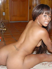 Cute black girl jada shows off her nice ass in tiny boy shorts then fucks her bick cocked bff