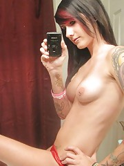 Gallery of an inked and pierced emo girlfriend camwhoring