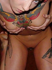 Photo collection of naughty inked wild amateur girlfriends
