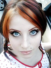 Picture set of a sexy flaming hot emo babe