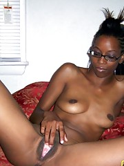Naughty black chicks show their tits and pussy on cam
