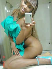 Photo selection of an amateur sexy kinky black girlfriend