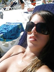 Steamy hot sexy amateur bikini-clad girlfriends